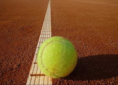 Terre battue au tennis